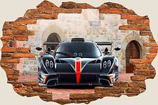 3D Hole in Wall Pagani Zonda Revolucion Revolution View Wall Stickers Mural 629