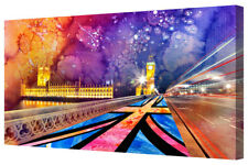 London City Scene Cool Funky Abstract Canvas Picture Wall Art Large Framed Print