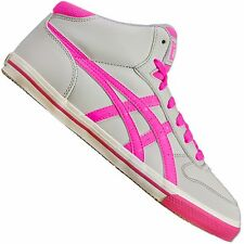ASICS ONITSUKA Tigre aaron mt Mi Top Chaussures baskets Mexico 66 Gris Fluo Rose