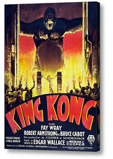KING KONG 1933 FRENCH REPRODUCTION A3 MOVIE POSTER ON CANVAS  A4, A3, A2, A1
