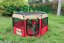 6 Panel Portable Pet Tent Playpen Puppy Dog Cage Crate Fence Exercise Enclosure