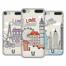 HEAD CASE DESIGNS DOODLE CITIES HARD BACK CASE FOR APPLE iPOD TOUCH MP3