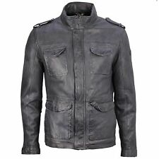 Gipsy Lederjacke Leder Jacke Anthrazit grau Used Look Garvey Lajow dark anthra