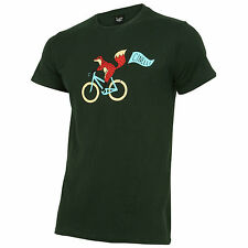 Cinelli Foxy T-Shirt - 100% Cotton - Dark Bottle Green - COOL BICyCLE T-SHIRT