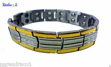 Semi Titanium Bio Magnetic Bracelet (Double Layer)