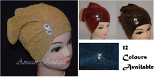 Eid Muslim Hijab Shiny Under Scarf Turban Inner Plain Hat Cap Bonnet Headscarf