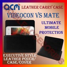 ACM-HORIZONTAL LEATHER CARRY CASE for VIDEOCON VS MATE MOBILE POUCH COVER HOLDER