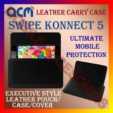 ACM-HORIZONTAL LEATHER CARRY CASE for SWIPE KONNECT 5 MOBILE COVER HOLDER LATEST