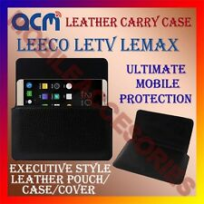 ACM-HORIZONTAL LEATHER CARRY CASE for LEECO LETV LEMAX MOBILE COVER POUCH HOLDER