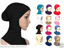 PLAIN STRETCHY HIJAB UNDER HIJAB SCARF BONNET INNER NINJA NECK CHEST COVER HAT