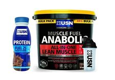 USN Muscle Fuel Anabolic All In One Protein Carbs Glutamine 4kg FREE Shaker