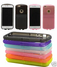 New Black White Pink Soft Silicone Dual TPU Gel Case Cover For Apple iPhone 6 6S