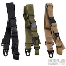 3 Three Point Tactical Rifle Sling Airsoft Paintball Hunting Gun Strap CQB UK