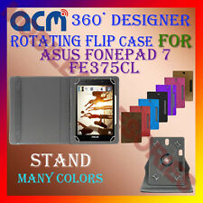 """ACM-DESIGNER ROTATING 360° 7"""" COVER CASE STAND for ASUS FONEPAD 7 FE375CL TABLET"""