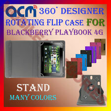 "ACM-DESIGNER ROTATING 360° 7"" COVER CASE STAND for BLACKBERRY PLAYBOOK 4G TABLET"