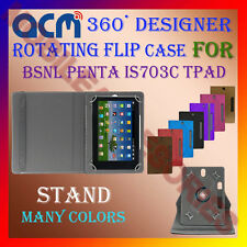 "ACM-DESIGNER ROTATING 360° 7"" COVER CASE STAND for BSNL PENTA IS703C TPAD TABLET"