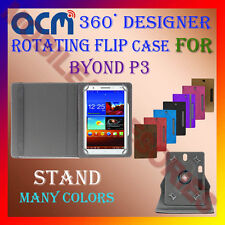 """ACM-DESIGNER ROTATING 360° 7"""" COVER CASE STAND for BYOND P3 TAB TABLET CARRY NEW"""