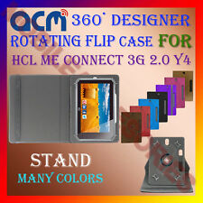 "ACM-DESIGNER ROTATING 360° 7"" COVER CASE STAND for HCL ME CONNECT 3G 2.0 Y4 TAB"