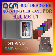 "ACM-DESIGNER ROTATING 360° 7"" COVER CASE STAND for HCL ME U1 TABLET TAB PREMIUM"