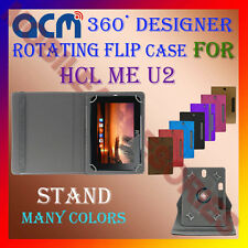 "ACM-DESIGNER ROTATING 360° 7"" COVER CASE STAND for HCL ME U2 TABLET TAB PREMIUM"