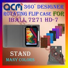 "ACM-DESIGNER ROTATING 360° 7"" COVER CASE STAND for IBALL 7271 HD-7 TAB TABLET"