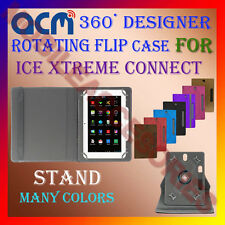 "ACM-DESIGNER ROTATING 360° 7"" COVER CASE STAND for ICE XTREME CONNECT TAB TABLET"