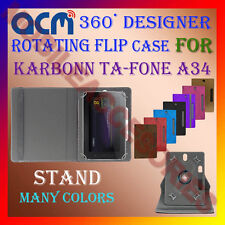 "ACM-DESIGNER ROTATING 360° 7"" COVER CASE STAND for KARBONN TA-FONE A34 TABLET"