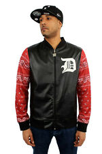 Dirty Money Similpelle Rosso Bandana Maniche College Track Top