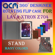 "ACM-DESIGNER ROTATING 360° 7"" COVER CASE STAND for LAVA XTRON Z704 TAB TABLET"