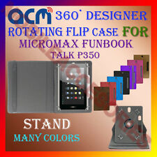 """ACM-DESIGNER ROTATING 360° 7"""" COVER CASE STAND for MICROMAX FUNBOOK TALK P350"""