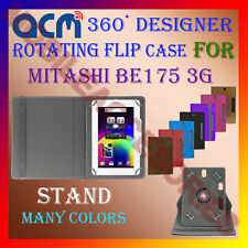 "ACM-DESIGNER ROTATING 360° 7"" COVER CASE STAND for MITASHI BE175 3G TABLET TAB"