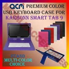 "ACM-USB COLOR KEYBOARD 9"" CASE for KARBONN SMART TAB 9 LEATHER COVER STAND TAB"