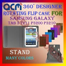 "ACM-DESIGNER ROTATING 360° 7"" COVER CASE STAND of SAMSUNG TAB 3 T211 P3200 P3210"