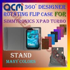 "ACM-DESIGNER ROTATING 360° 7"" COVER CASE STAND for SIMMTRONICS XPAD TURBO TABLET"