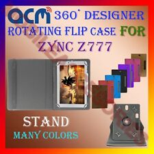 "ACM-DESIGNER ROTATING 360° 7"" COVER CASE STAND for ZYNC Z777 TABLET TAB PREMIUM"