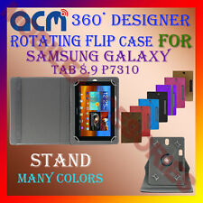 "ACM-DESIGNER ROTATING 360° 9"" COVER CASE STAND for SAMSUNG GALAXY TAB 8.9 P7310"