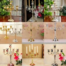 Candle Holder 5 Arm 3 Arm Metal Candlesticks Silver/Gold Candelabra For Wedding
