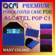 ACM-PREMIUM POUCH LEATHER CARRY CASE for ALCATEL POP C1 MOBILE COVER HOLDER NEW
