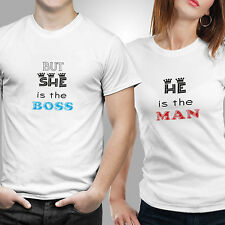 iberrys-Couple Tshirts- DryFit Polyester He is the man