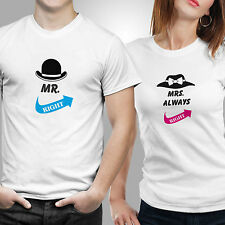 iberrys-Couple Tshirts DryFit Polyester- Mr Mrs Right