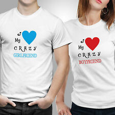 iberrys-Couple Tshirts-DryFit Polyester  I Love Crazy