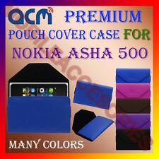 ACM-PREMIUM POUCH LEATHER CARRY CASE for NOKIA ASHA 500 MOBILE COVER HOLDER NEW