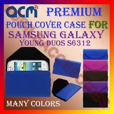 ACM-PREMIUM POUCH LEATHER CARRY CASE for SAMSUNG YOUNG DUOS S6312 MOBILE COVER