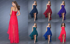 New Chiffon high low Cocktail Formal Bridesmaid Evening Dresses Prom Party Gowns