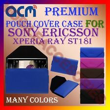 ACM-PREMIUM POUCH LEATHER CARRY CASE for SONY ERICSSON XPERIA RAY ST18I COVER