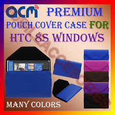 ACM-PREMIUM POUCH LEATHER CARRY CASE for HTC 8S WINDOWS MOBILE COVER HOLDER NEW