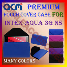 ACM-PREMIUM POUCH LEATHER CARRY CASE for INTEX AQUA 3G NS MOBILE COVER HOLDER
