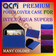 ACM-PREMIUM POUCH LEATHER CARRY CASE for INTEX AQUA SUPERB MOBILE COVER HOLDER