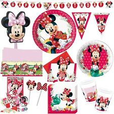 Minnie Maus Kindergeburtstag rot Erdbeere Kinderpartyset Minni Mouse Party Set