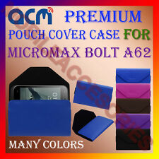 ACM-PREMIUM POUCH LEATHER CARRY CASE for MICROMAX BOLT A62 MOBILE COVER HOLDER
